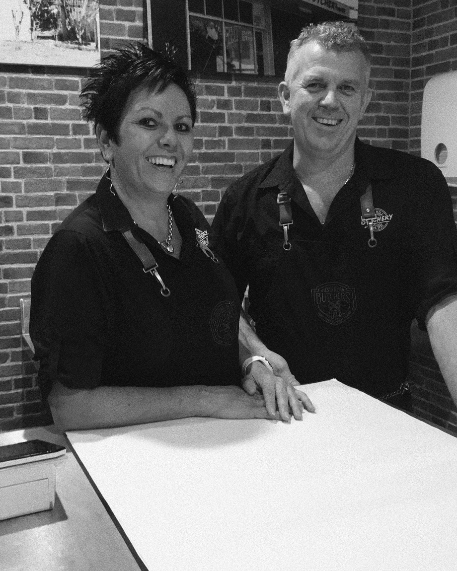 Rod & Julie Leaver, owners of Edge Hill Butchery